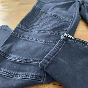 Gap maternity motorcycle jeans gray black wash